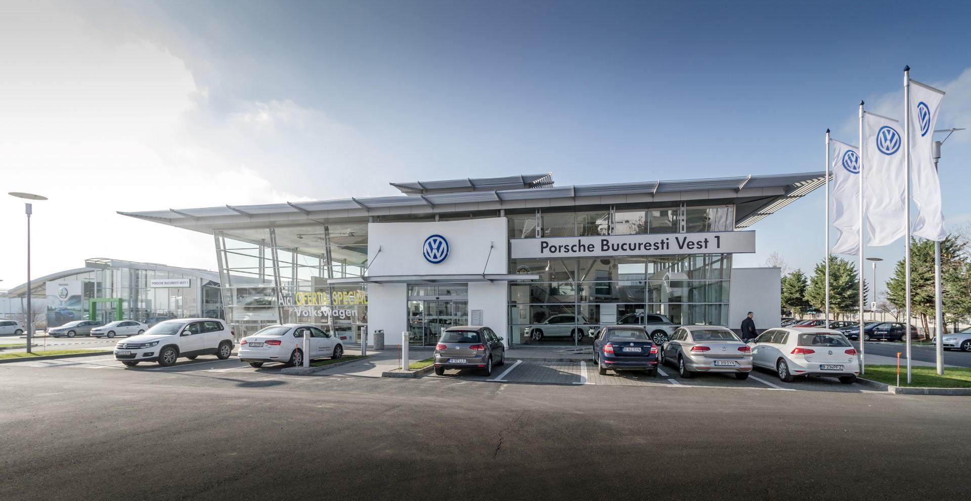 Porsche Showroom și Service Auto București Vest Architect Service